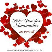 0A300N - Adesivo Dia dos Namorados - Corações