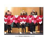 A303N - Adesivo - Faixa de Corações