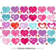 0A304N - Adesivo - Cartela de Corações