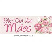 A541M - Adesivo Dia das Mães - Faixa adesiva poá