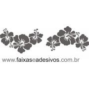 Flores Praia Recortado Adesivo Branco 2 jogos
