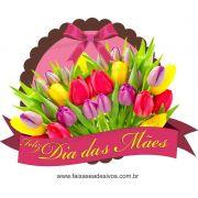 A548M - Adesivo Dia das Mães - Flamula de Flores