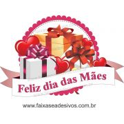 A550M - Adesivo Dia das Mães - Flamula de Presentes