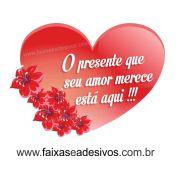 A306N - Adesivo Dia dos Namorados - Coração com Flor