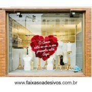 A307N - Adesivo Dia dos Namorados - Coração de rosas