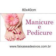 Placa de Manicure e Pedicure - Escolha o tamanho