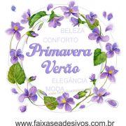 A500 - Adesivo Primavera-Verão - Guirlanda de Violetas