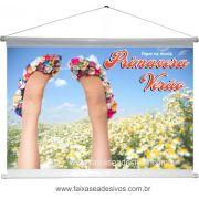 A502B - Banner Primavera-verão - sapatos floridos