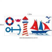 A705 - Dia das Crianças - Adesivo Náutico Infantil cartela