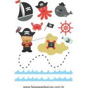 A712 - Dia das Crianças - Adesivo Náutico Pirata