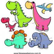 A717 - Dia das Crianças - Adesivo Cartela de Dinossauros