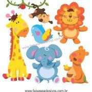 A721 - Dia das Crianças - Cartela de Adesivos Zoo