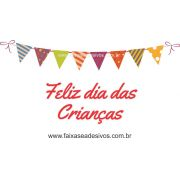 A722 - Dia das Crianças - Texto com bandeirinhas