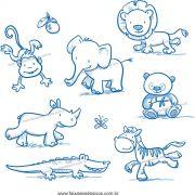 034 - Adesivo Decorativo Cartela Animais riscados Safari