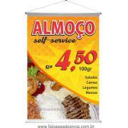 Banner Refeição Almoço Self-service - Escolha o tamanho