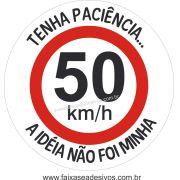 Adesivo Paciência Nova Velocidade 50km