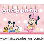 Painel de Aniversário Minnie Baby