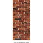 001 - Adesivo Decorativo de parede Tijolinho - larg 42cm o rolo de 3 metros