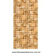 003 - Adesivo Decorativo de parede Pedra - 42cm larg rolo com 3 metros