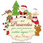1202 - Adesivo de Natal família Natalina (P-M-G)