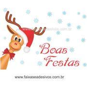1207 - Adesivo Rena de Natal 120x100cm