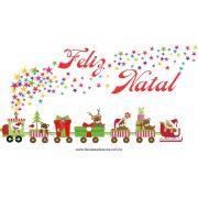 1212 - Adesivo Trenzinho de Natal