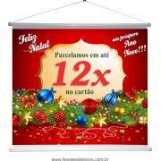 B631N - Banner para o Natal - 80x70cm - Pode trocar o texto ou colocar Logo