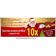 Faixa de Natal 01 - Tamanho 2,00x0,70m - fazemos com seu texto!