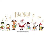 1226 - Adesivo Coral de Natal musical