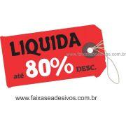 A494 - Tag - Adesivo de vitrine - Liquida Sale
