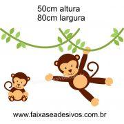 027 - Macaquinhos Infantil adesivo Decorativo 50x80cm