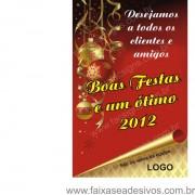 Banner Boas Festas Pergaminho 125x80cm