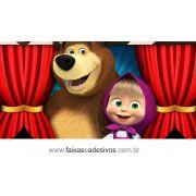 Painel de Aniversário 217 - Masha e o Urso 3
