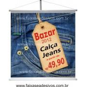 Banner Calça Jeans 80x85cm
