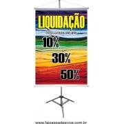 Banner Liquidação cores - 100x70cm