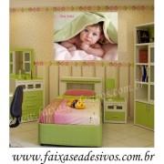 Fotos para Decoração Quarto do Bebê - placa ou adesivo 80x90cm