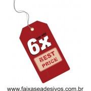 Adesivo TAG vermelho 6x - 80x30cm