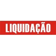 Adesivo Liquidação Vazado 0,25 x 1,00m