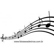 Notas Musicais adesivo decorativo  - 1,50 x 0,80m