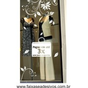 Adesivo de vitrine Arabescos Outono-Inverno