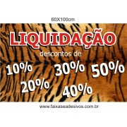 Adesivo de inverno pele de tigre 60x100cm