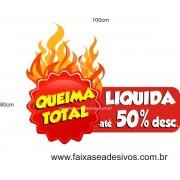 Liquida Total queima de estoque adesivo 100x80cm