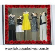 Barrado de rosas vermelhas