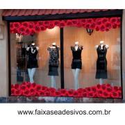 Rosas vermelhas em ondas  115x30cm