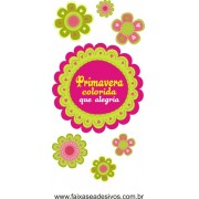 Primavera colorida Flores alegres adesivo 120x60cm