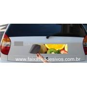 811 - Imã Flexivel para Carro 60x10cm - Envie arte pronta ou solicite a sua! Mais vendido!