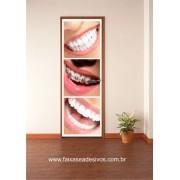 Dentista sorriso bonito adesivo 220x80cm