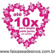 Coração de Flores adesivo 70x70cm