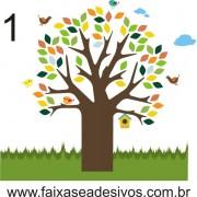 021 - Arvore do Jardim Adesivo Decorativo - Várias cores