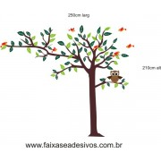 011 - Árvore Adesivo Decorativo  - com passarinhos